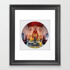 Buddha Shrine #3 (Circle) Framed Art Print