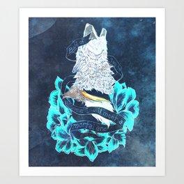 Motivational Wolf Art Print