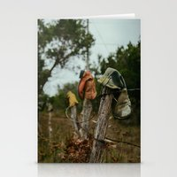 western Stationery Cards featuring Western Boots by OctaviusEst