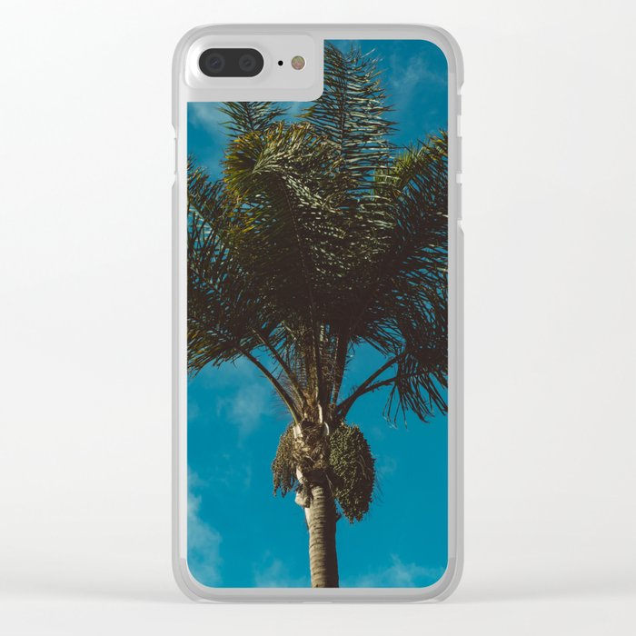 Palm Tree II Clear iPhone Case