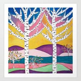 Landscape Art - Birch Trees Art Print