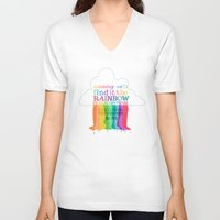 muppets V-neck T-shirts featuring the rainbow connection.. the muppets by studiomarshallarts