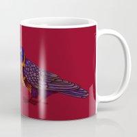 crow Mugs featuring Crow by Sarinya  Withaya