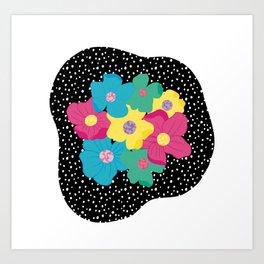 Spots & Flowers Art Print