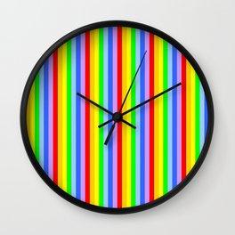 variation on the rainbow 1 Wall Clock
