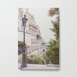 Montmartre Steps - Paris Travel Photography Metal Print