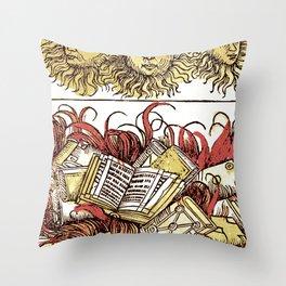 Book Burning Throw Pillow