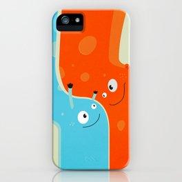 Hugging Cute Cartoon Characters iPhone Case