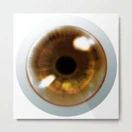 Brown Eye - Graphic Design Metal Print