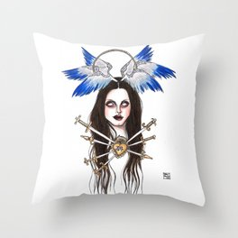 Lady of Sorrows Throw Pillow