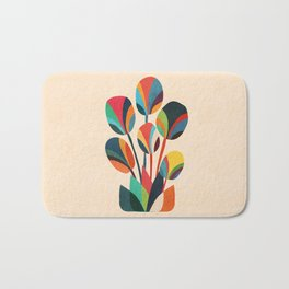 Ikebana - Geometric flower Bath Mat