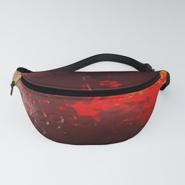 Abstract Red Rain Fanny Pack