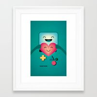 bmo Framed Art Prints featuring BMO  by Milli-Jane