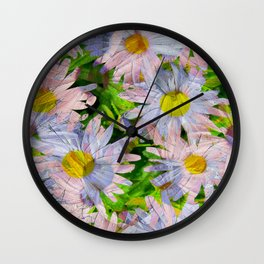 DAISEY MADNESS ABSTRACT  Wall Clock