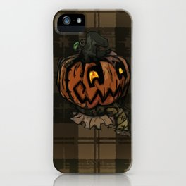 Patchwork Jack o' lantern iPhone Case
