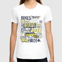 bikes T-shirts featuring Bikes! by Matthew Fleming