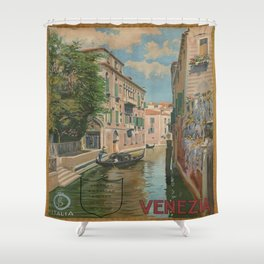 Vintage poster - Venice Shower Curtain