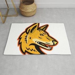Arabian Wolf Head Mascot Rug