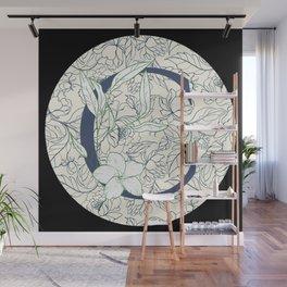 Monogram C Vines & Flowers Wall Mural