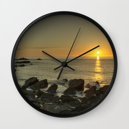Ilfracombe beach Sunset Wall Clock