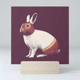 Lapin Catcheur (Rabbit Wrestler) Mini Art Print