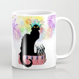 Lady Liberty - Patriotic Le Chat Noir Coffee Mug