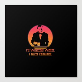 Winston Wolfe. I solve problems Canvas Print