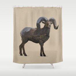 The Rocky Mountain Bighorn Sheep Shower Curtain