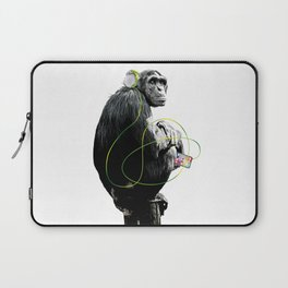 Monkey Listens to Music Laptop Sleeve