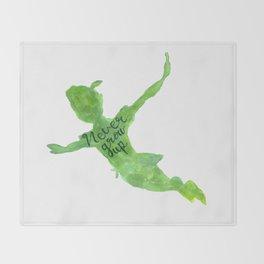 Never Grow Up Throw Blanket