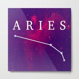 Starry Aries Constellation Metal Print