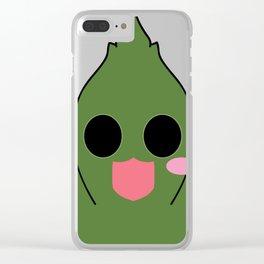 Cute Cannabis Masot : Indica 大麻 (Taima) Clear iPhone Case