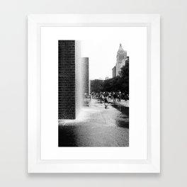 Chicago Street Scenes 2: City Splash Framed Art Print