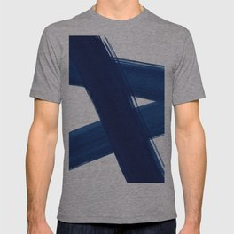 Indigo Abstract Brush Strokes | No. 4 T-shirt