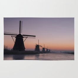 Windmills at Sunrise III Rug