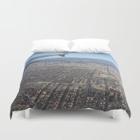 los angeles Duvet Covers featuring Los Angeles  by Lucas Hayas