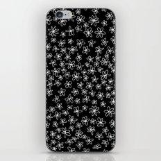 Flowers on Black iPhone & iPod Skin