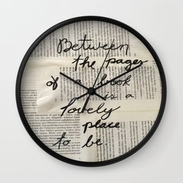 Between Pages Wall Clock