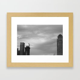 Reach out and touch the sky Framed Art Print
