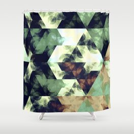 Green Hex Shower Curtain