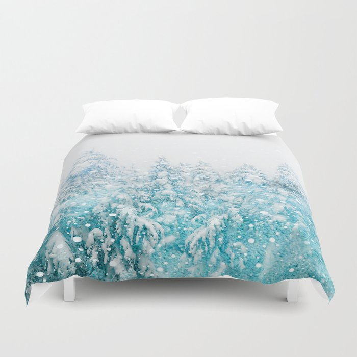 Snowy Pines Bettbezug