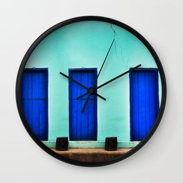BLUE HOUSE  Wall Clock