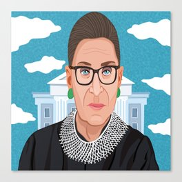 Ruth Bader Ginsburg Notorious RBG Canvas Print