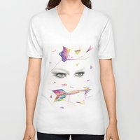 zodiac V-neck T-shirts featuring Zodiac - Sagittarius by Simona Borstnar