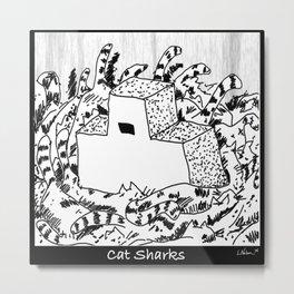 Cat Sharks Metal Print