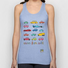 Cars for all Unisex Tank Top