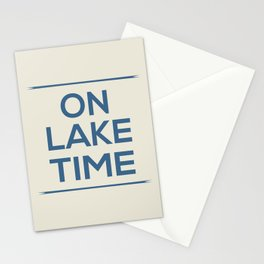 On Lake Time Stationery Cards