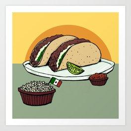 Twin Tacos Art Print