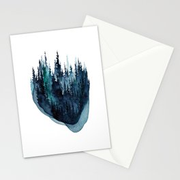 Turquoise Glow - Pine Forest Stationery Cards