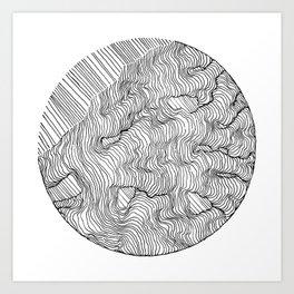 Vertigo Adrift (Vector) Art Print